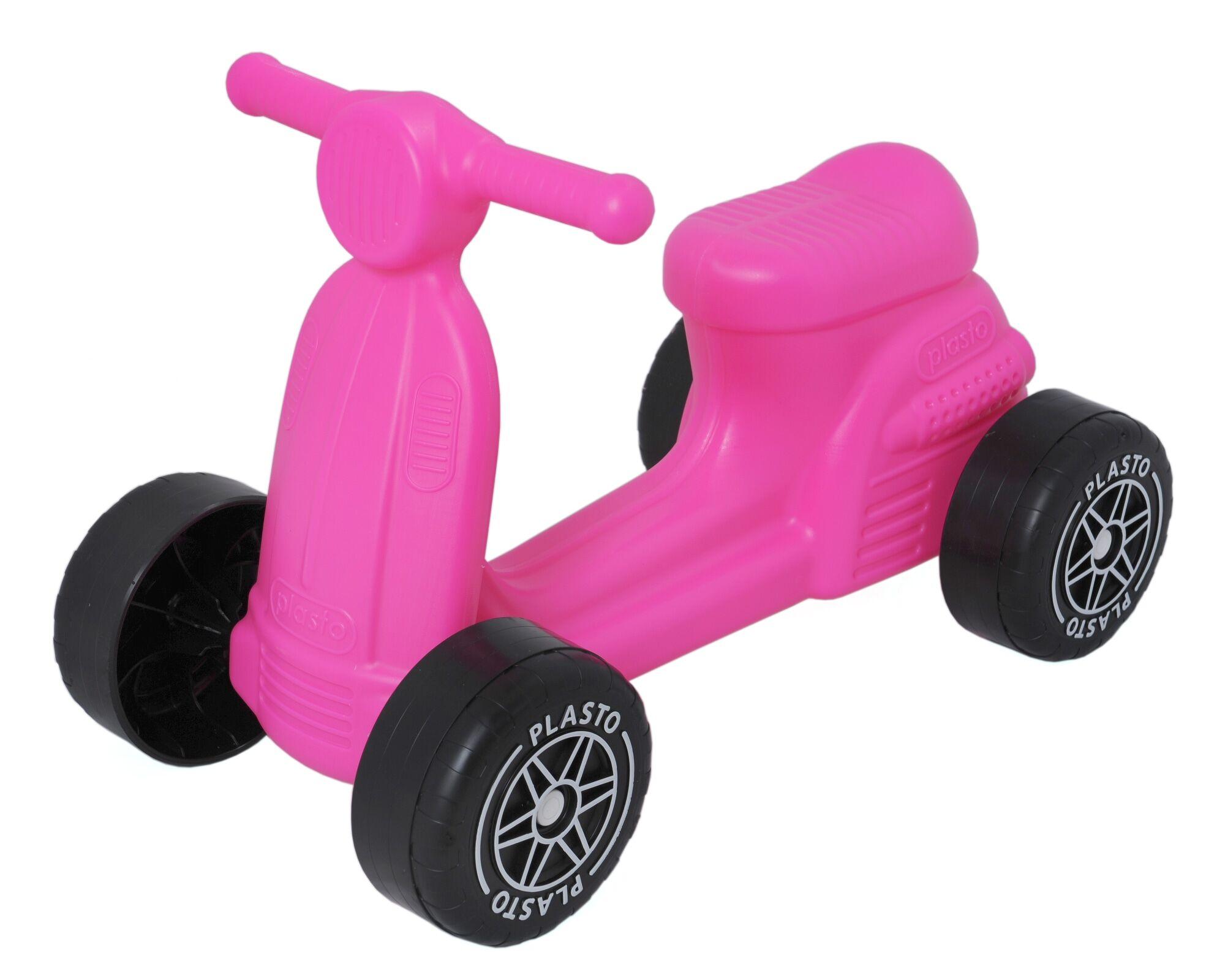 Plasto pinkki skootteri hiljaisilla pyörillä