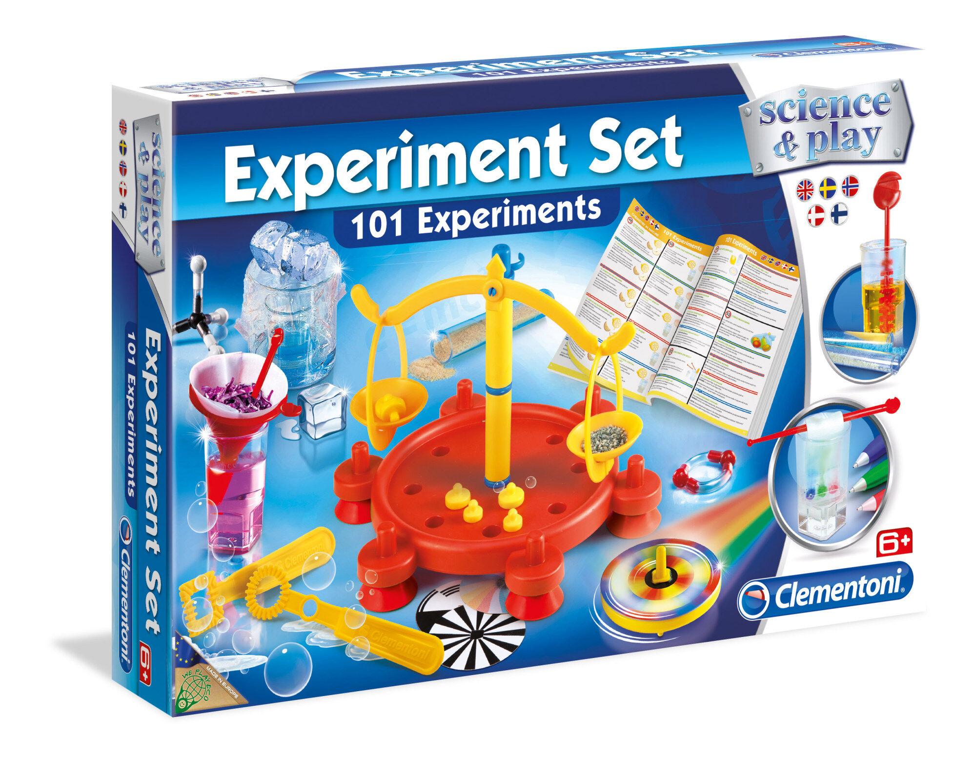 Clementoni Experiment Set 101 kemiikan ja fysiikan kokeita