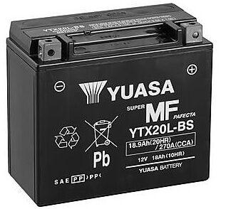 Yuasa YTX20L-BS 12V 18Ah moottoripyöräakku
