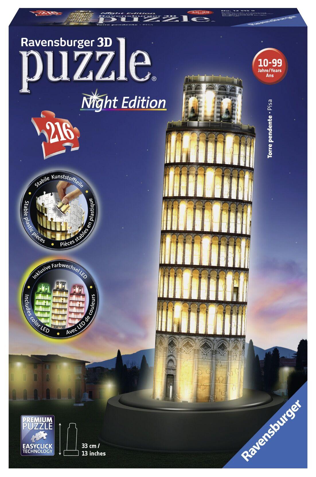Ravensburger 3D Pisa at Night 216p palapeli