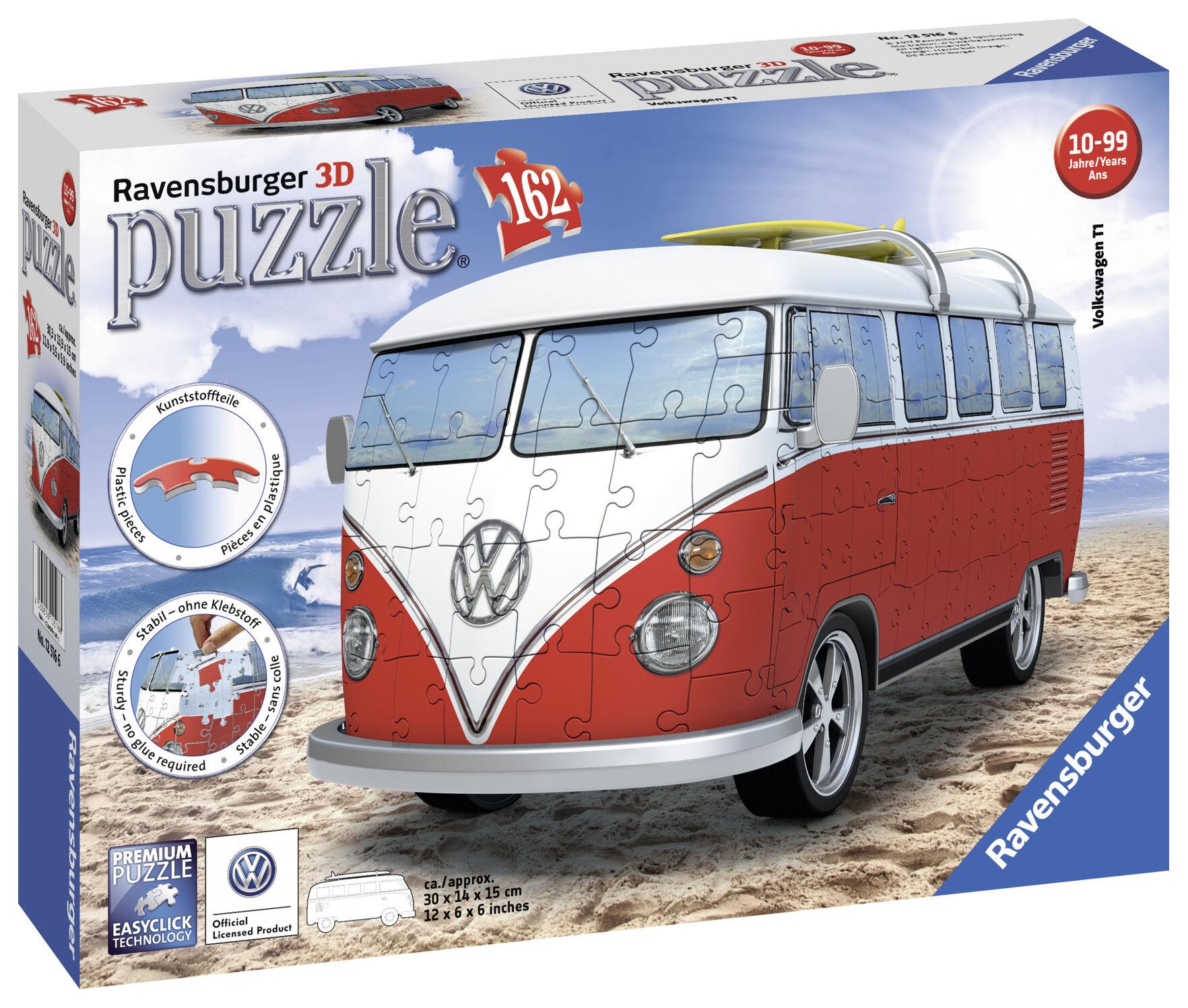 Ravensburger Volkswagen T1 Surfer Edition 162p 3D palapeli