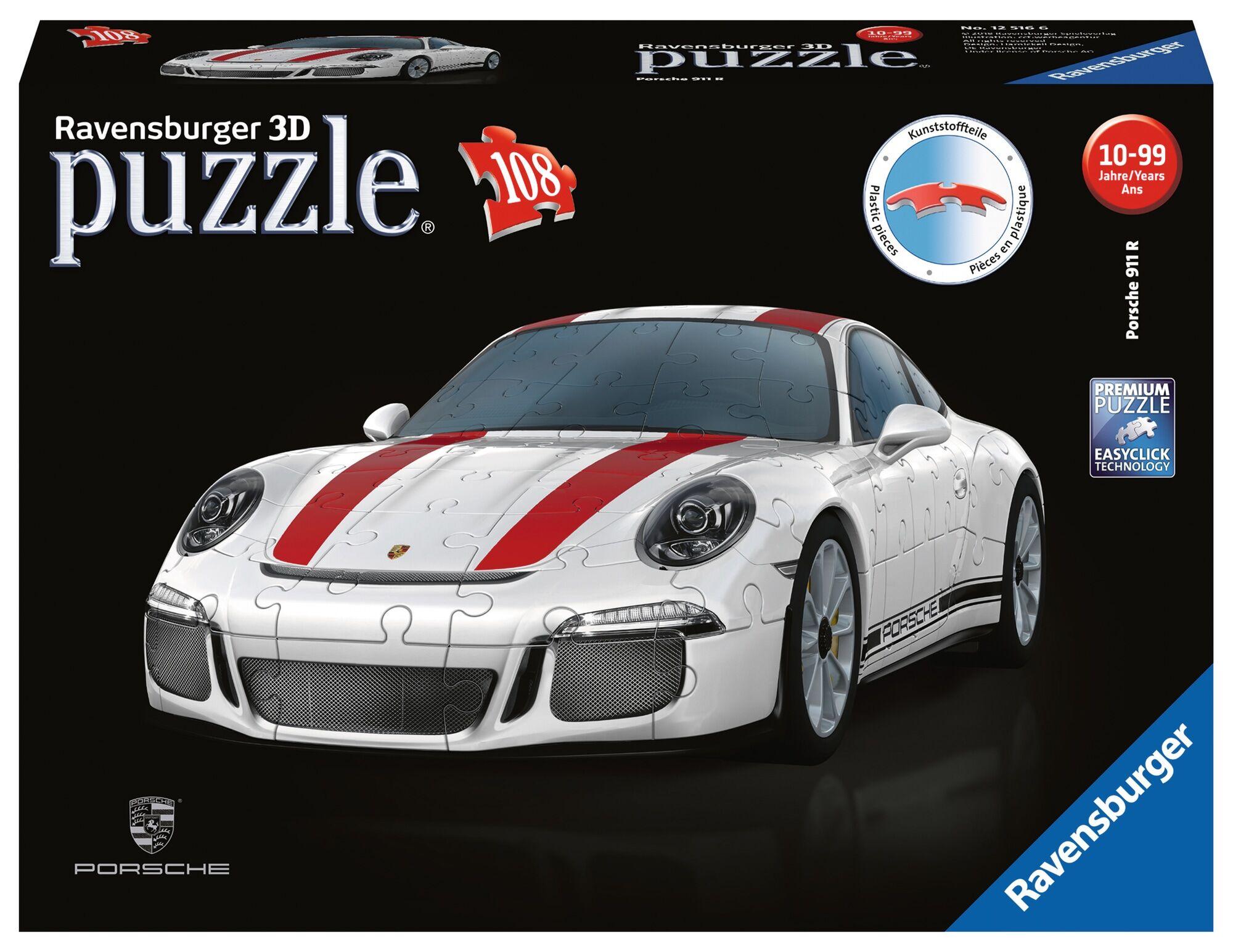 Ravensburger Porsche 911 R 108p 3D palapeli