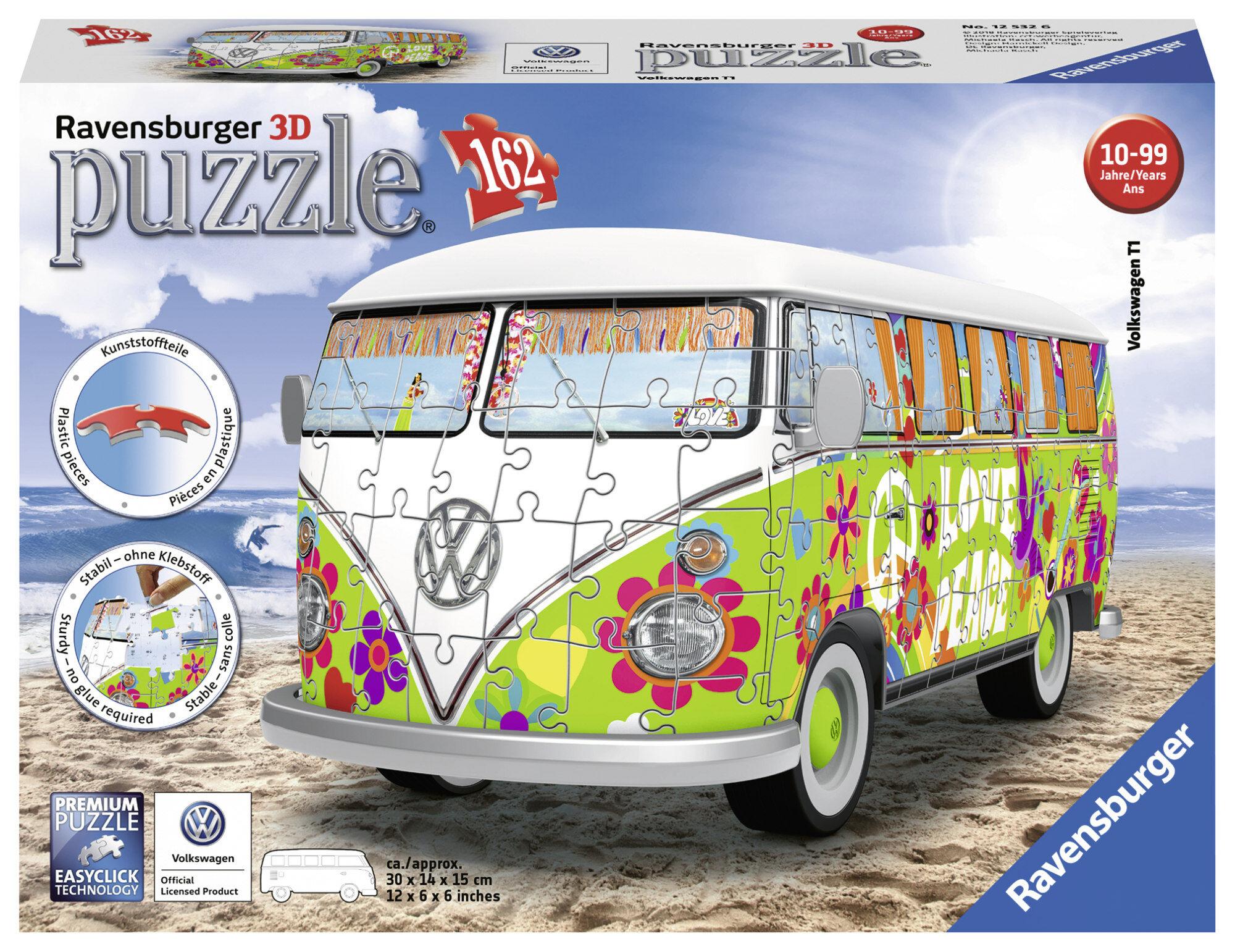 Ravensburger Volkswagen Bus Hippie Style 162p 3D palapeli