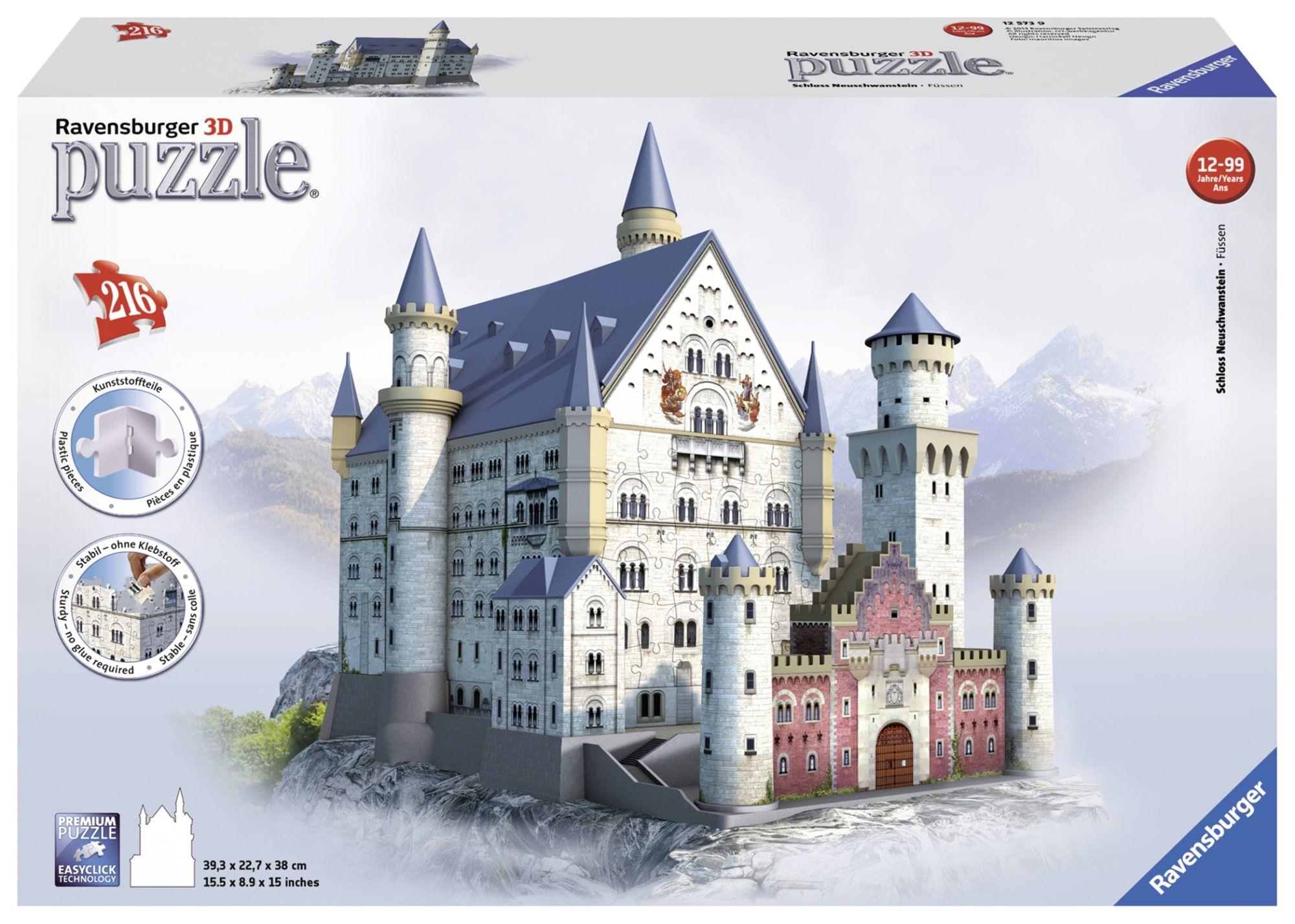 Ravensburger Neuschwanstein Castle 216p 3D palapeli
