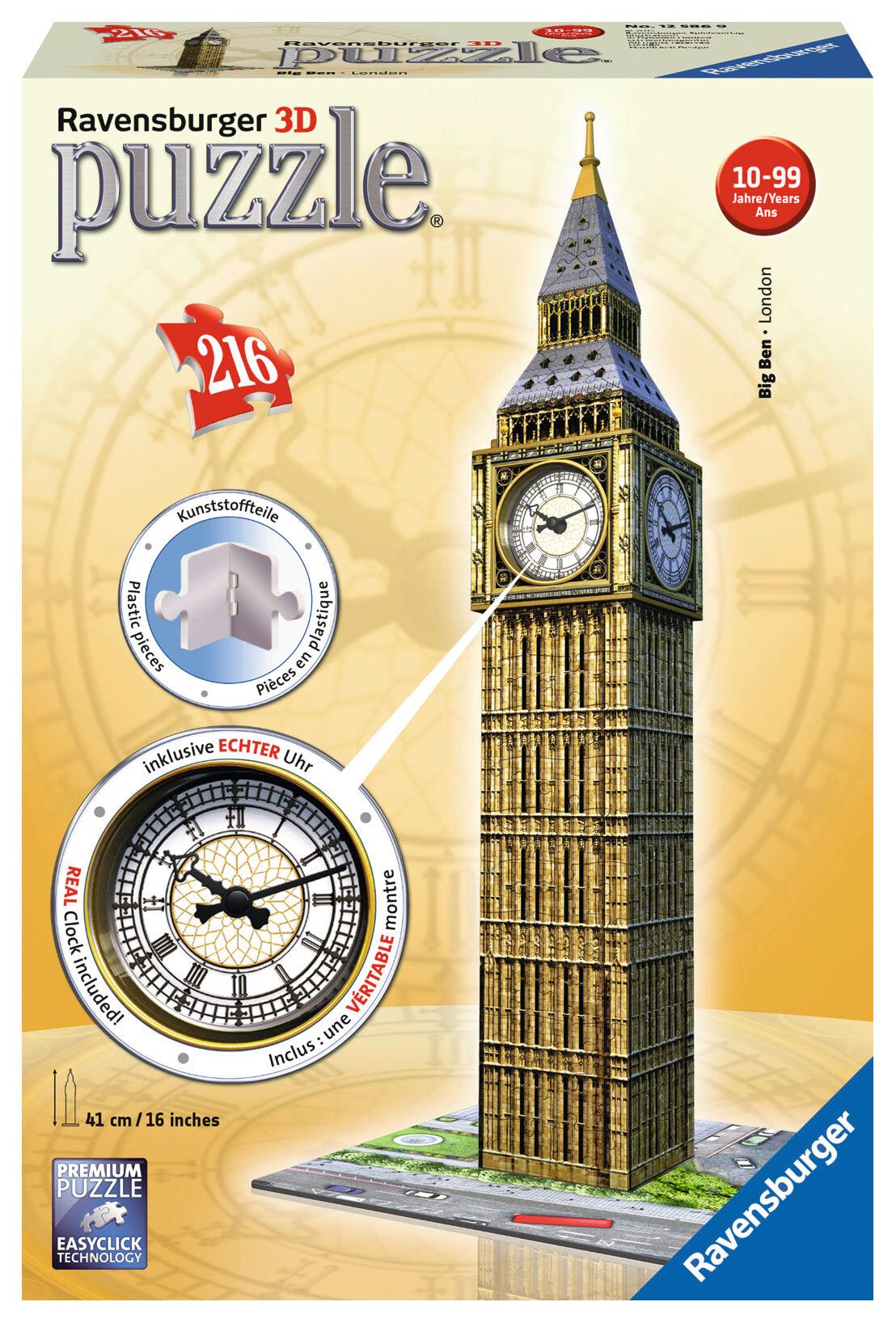 Ravensburger Big Ben London 216 palaa 3D palapeli