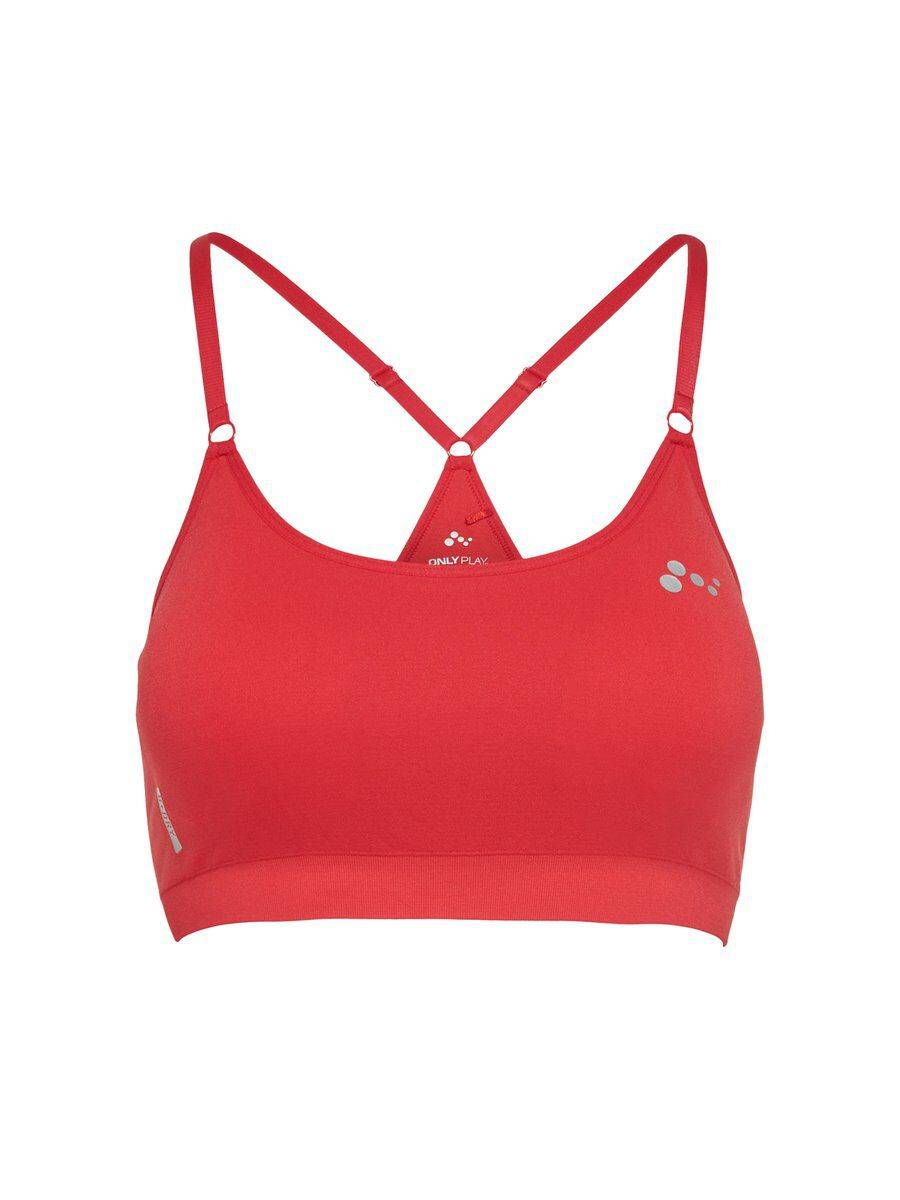 Image of ONLY Seamless Sports Bra Women Red
