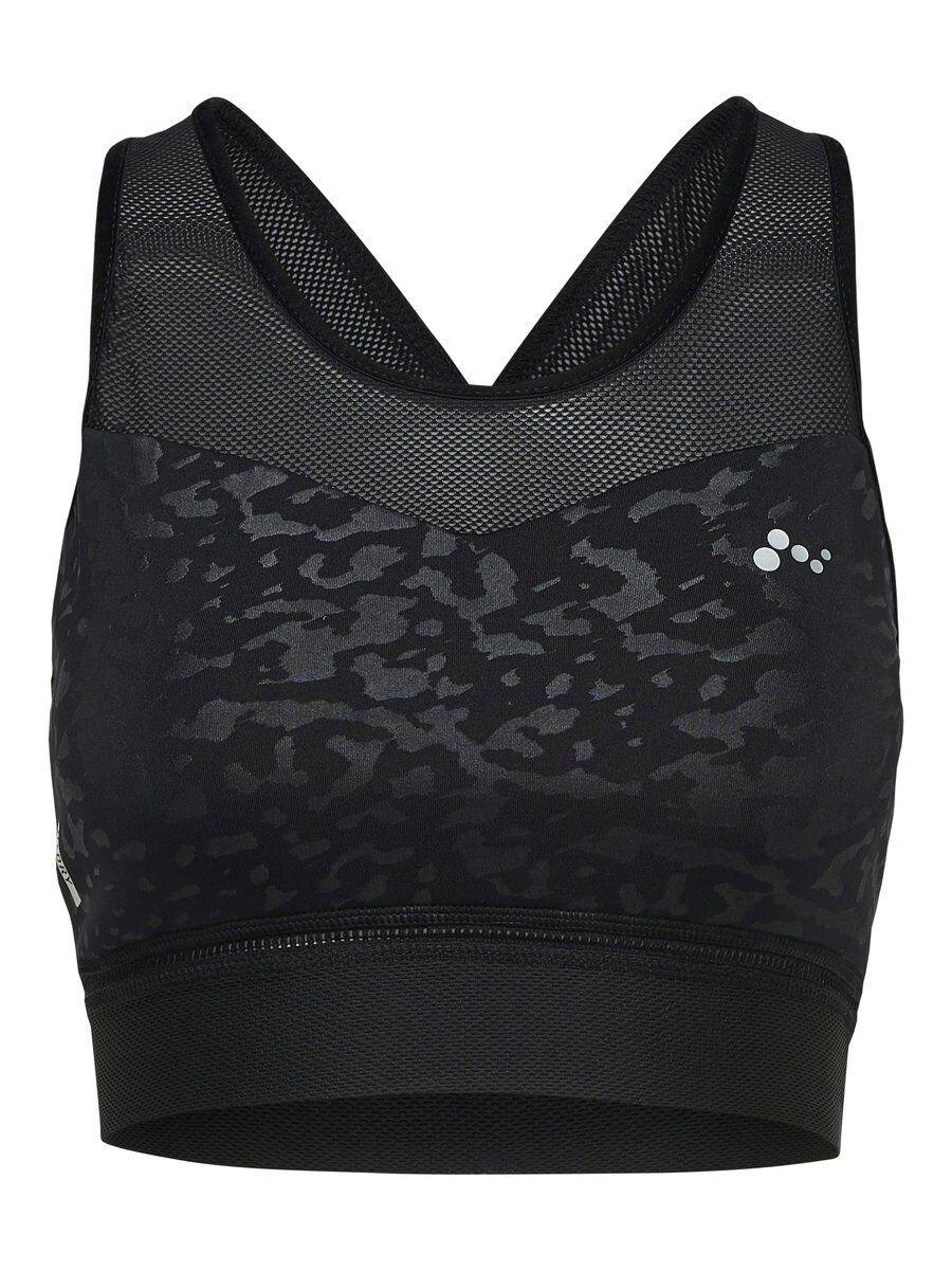 Image of ONLY Printed Yoga Sports Bra Women Black