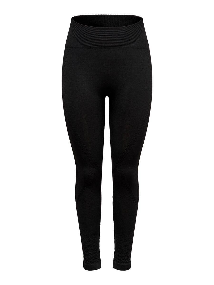 Image of ONLY Solid Color Training Tights Women Black