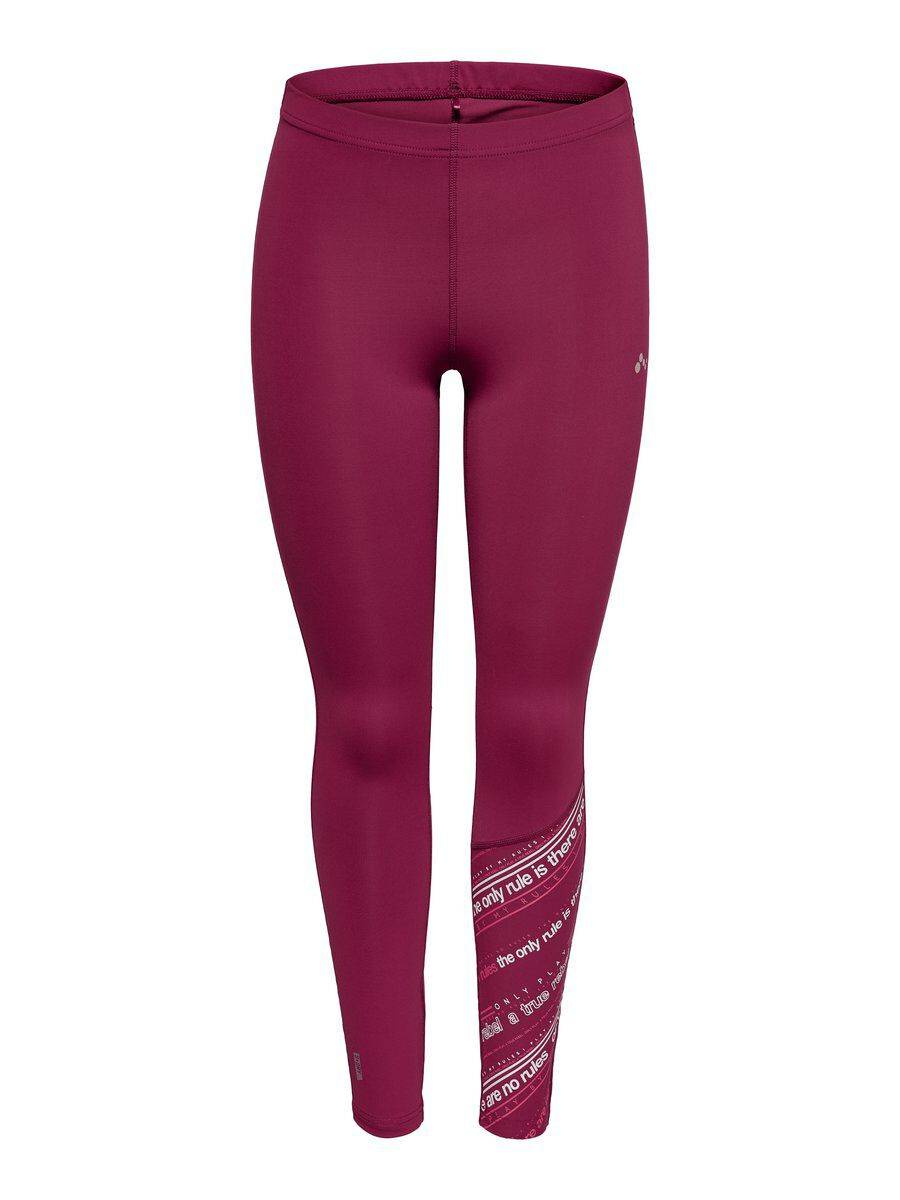 Image of ONLY Printed Training Tights Women Red