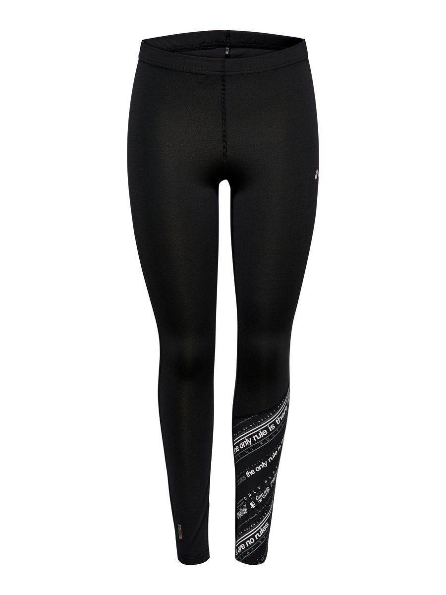 Image of ONLY Printed Training Tights Women Black