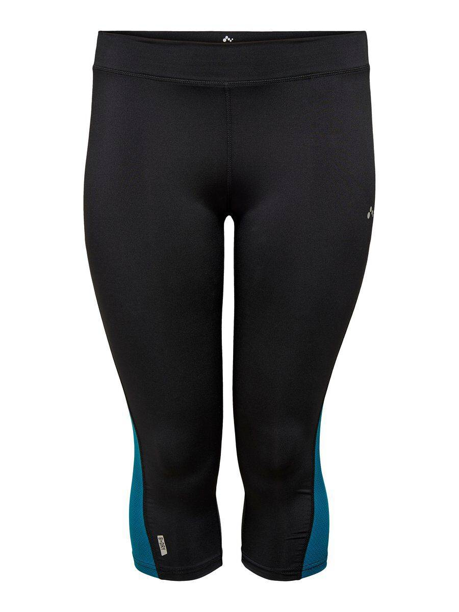 Image of ONLY Curvy 3/4 Long Training Tights Women Black