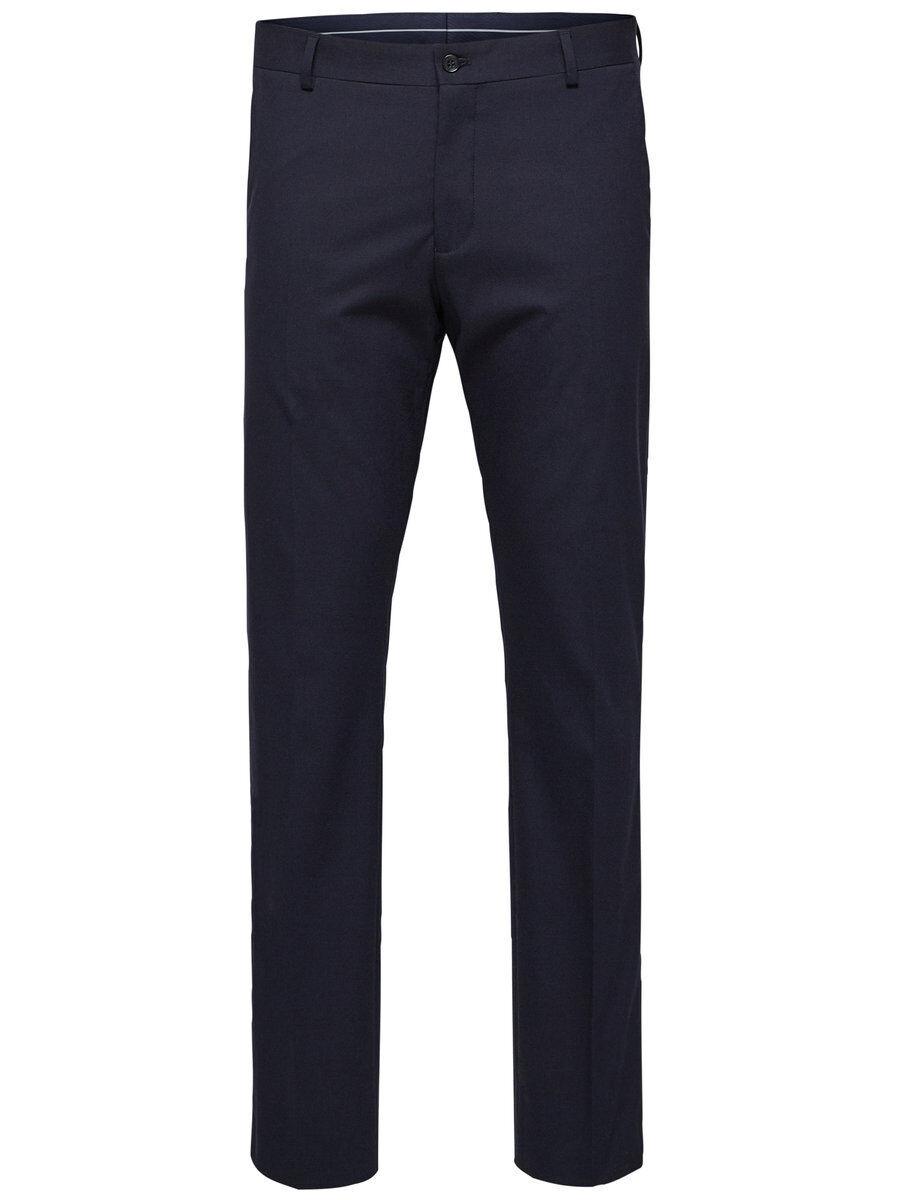 SELECTED Slim Fit Suit Trousers Men Blue
