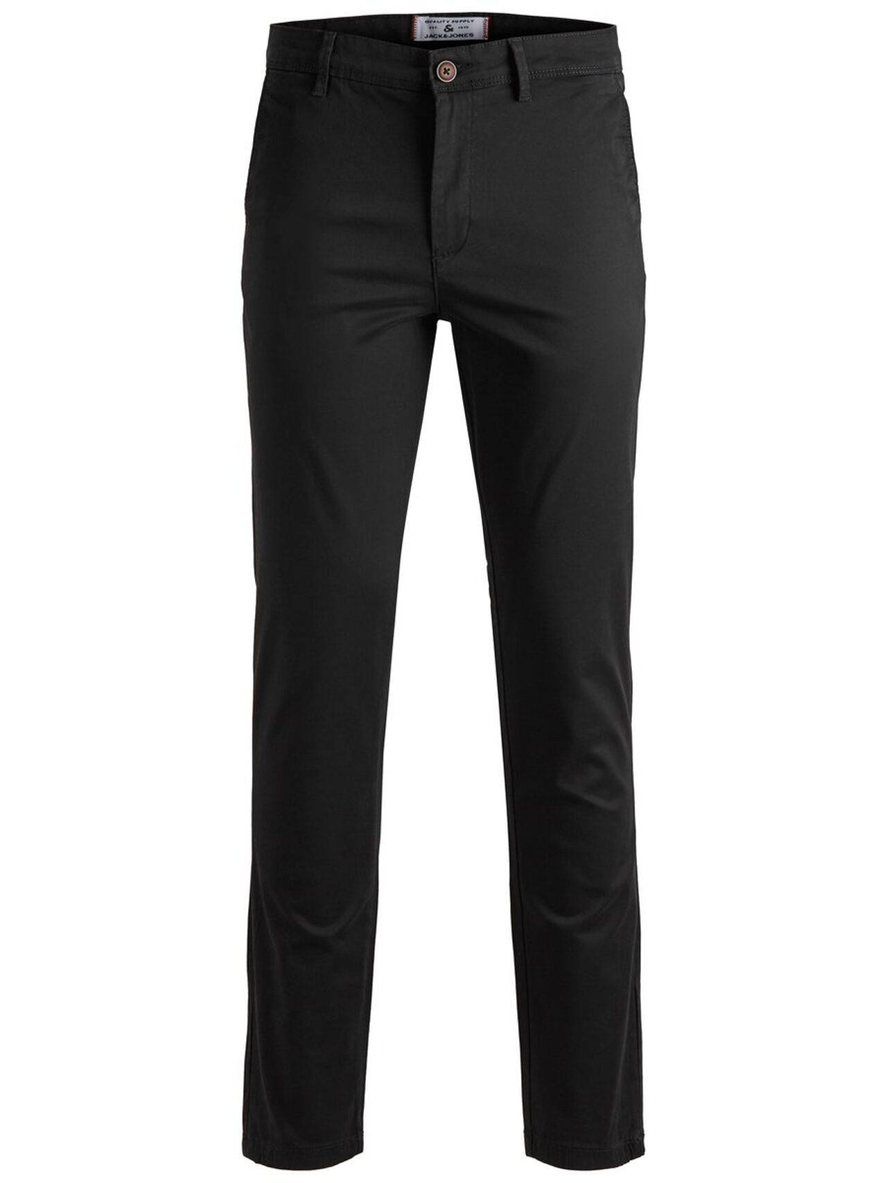 JACK & JONES Marco Bowie Slim Fit Chinos Men Black Black