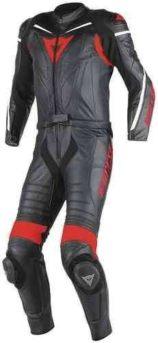 Dainese Laguna Seca D1 Kaksiosainen puku Musta/punainen