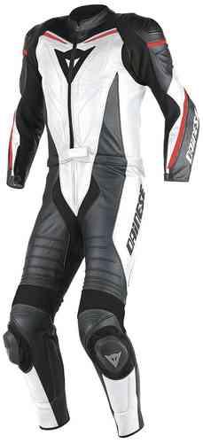 Dainese Laguna Seca D1 Kaksiosainen puku Valkoinen/musta/punainen