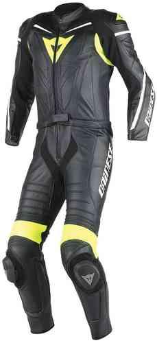 Dainese Laguna Seca D1 Kaksiosainen puku Musta/keltainen