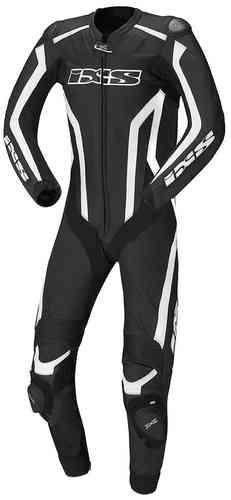 IXS GP Track Yksiosainen puku Musta/valkoinen