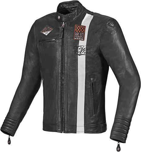 Arlen Ness Manhattan Moottoripyörä nahkatakki Musta