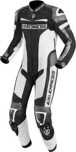 Arlen Ness Zoldar 1PC Yksiosainen puku Musta/valkoinen/harmaa