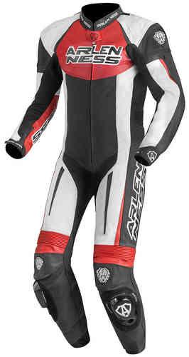 Arlen Ness Monza Yksiosainen rodun puku Musta/valkoinen/punainen