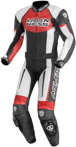 Arlen Ness Monza Kaksiosainen puku Musta/valkoinen/punainen
