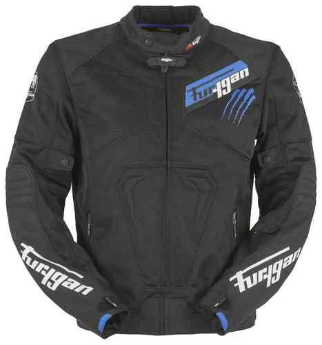 Furygan Hurricane Vented Tekstiili takki Musta/sininen