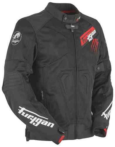 Furygan Hurricane Vented Tekstiili takki Musta/punainen