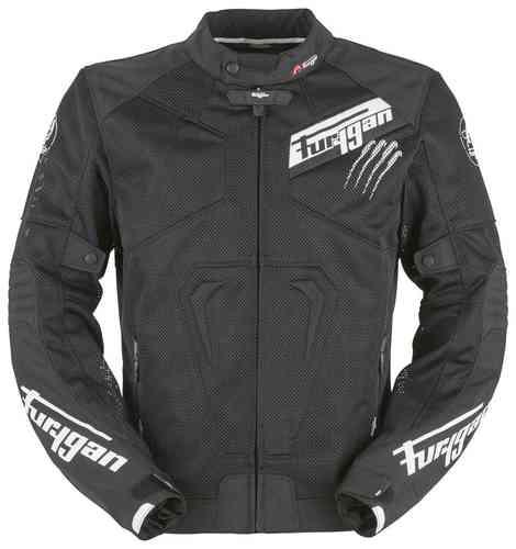 Furygan Hurricane Vented Tekstiili takki Musta/valkoinen