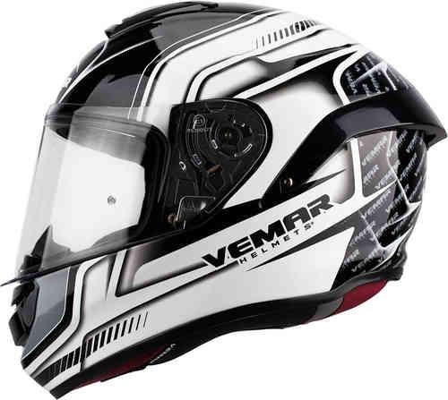 Vemar Hurricane Racing Kypärä Valkoinen/harmaa/musta