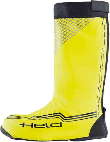 Held Boot Skin Sade kengät kautta pitkä Musta/kirkkaankeltainen