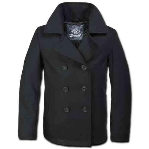 Brandit Pea Coat Takki Musta
