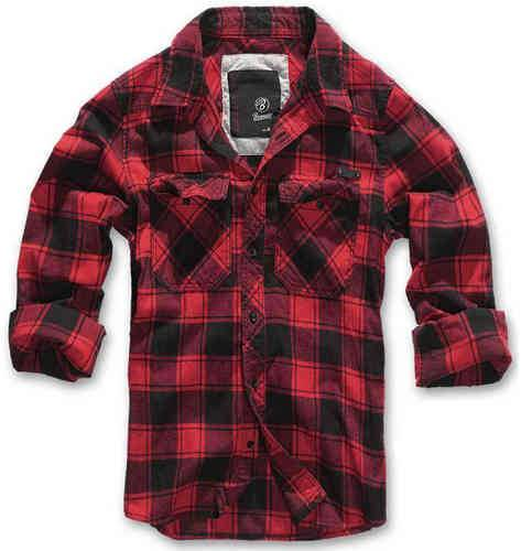 Brandit Check Paita Musta/punainen