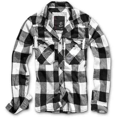 Brandit Check Paita Musta/valkoinen
