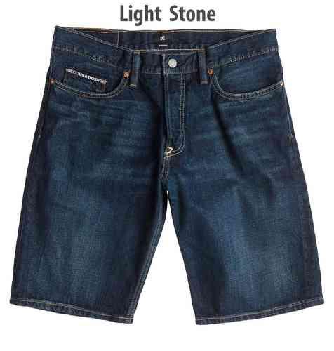 DC Worker Straight Denim Shorts Light Stone Wash
