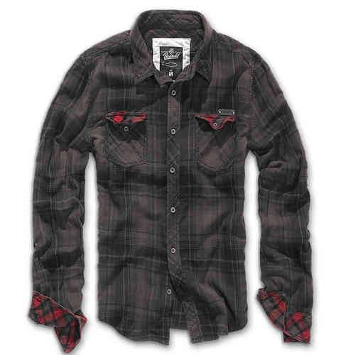 Brandit Check Duncan Paita Musta/ruskea