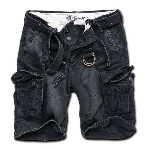 Brandit Shell Valley Heavy Vintage Shortsit Musta