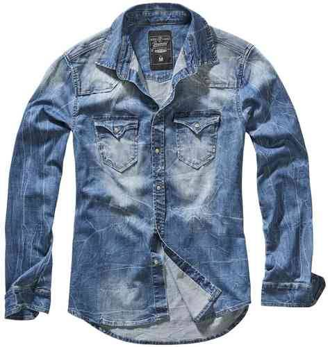 Brandit Riley Denim Paita Sininen