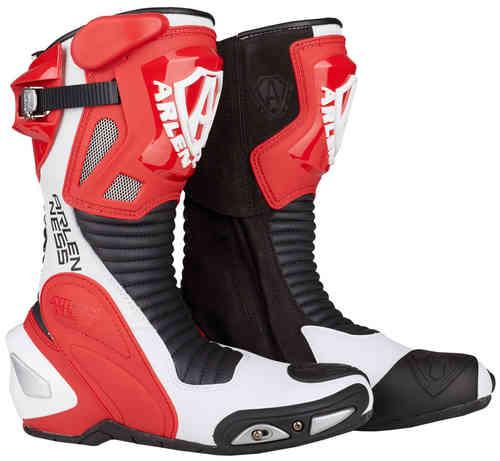 Arlen Ness Pro Shift Moottoripyörä saappaat Punainen/valkoinen/musta