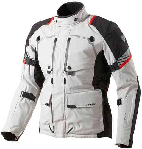Revit Poseidon Gore-Tex Tekstiili takki Vaaleanharmaa/musta