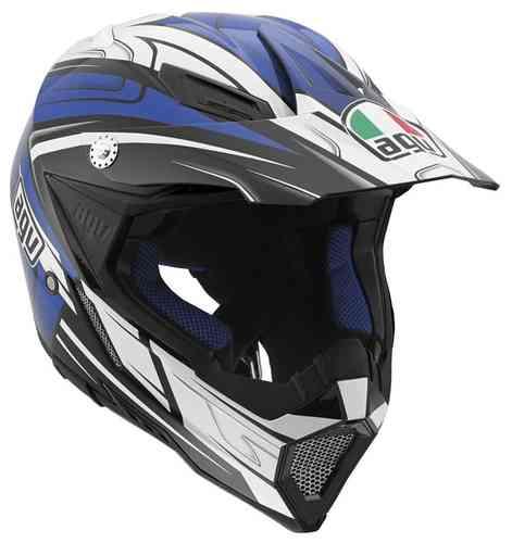 AGV AX-8 Evo Factory Motocross kypärä Musta/valkoinen/sininen