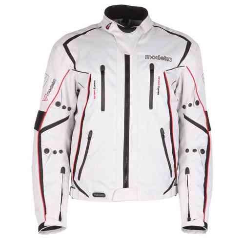 Modeka Sport Mistral Tekstiili takki Vaaleanharmaa