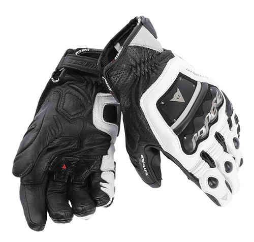 Dainese 4-Stroke Evo Moottoripyörän käsineet Musta/valkoinen