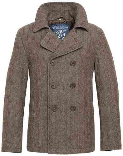 Brandit Pea Coat Takki Ruskea