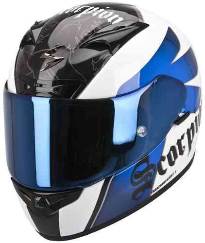 Scorpion Exo 710 Air Knight Kypärä Valkoinen/sininen