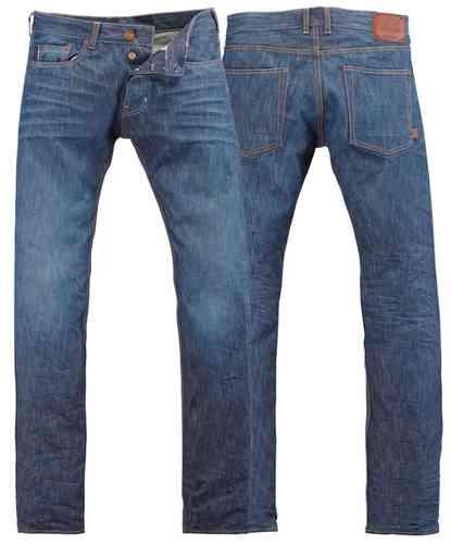 Rokker Rokka Daytona Stone Wash Jeans Housut Sininen