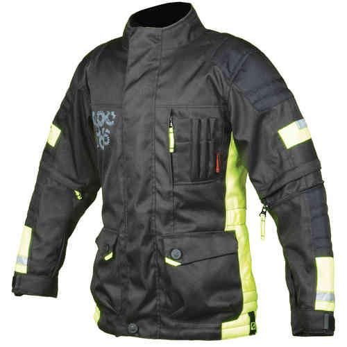 Booster Candid-Y Kids tekstiili Jacket Musta/neon/keltainen