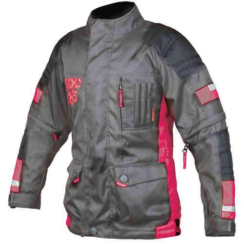 Booster Candid-Y Kids tekstiili Jacket Musta/vaaleanpunainen