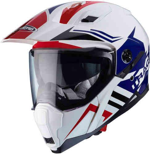 Caberg Xtrace Lux Enduro kypärä Valkoinen/punainen/sininen