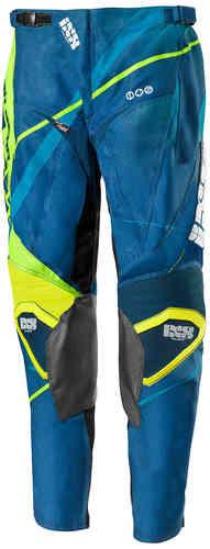 IXS Hurricane Motocross housut Sininen/kirkkaankeltainen