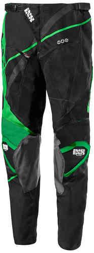 IXS Hurricane Motocross housut Musta/vihreä/valkoinen